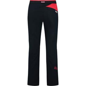 La Sportiva Temple Pantalones Mujer, black/hibiscus